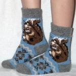 J-14 Женские шерстяные носки