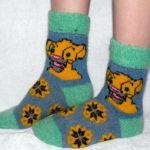 J-7 Женские шерстяные носки
