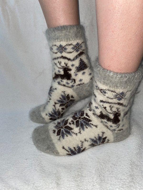 Женские шерстяные носки. Модель J-28