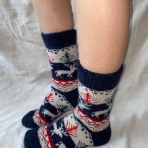 Женские шерстяные носки. Модель J-35