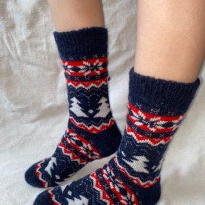 Женские шерстяные носки. Модель J-36