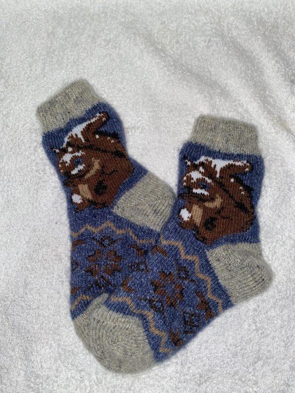 Подростковые шерстяные носки. Модель P-10
