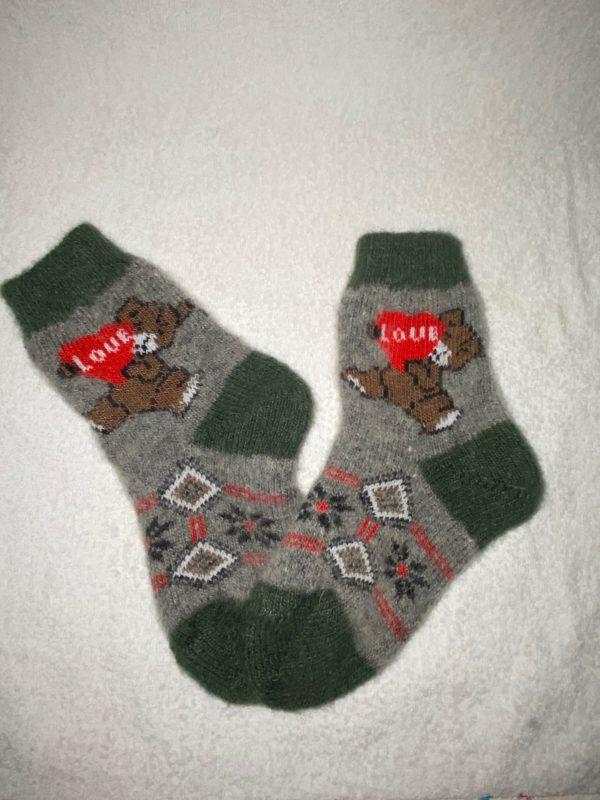 Подростковые шерстяные носки. Модель P-6