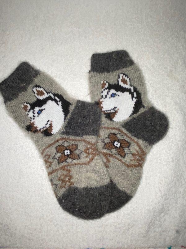 Подростковые шерстяные носки. Модель P-7