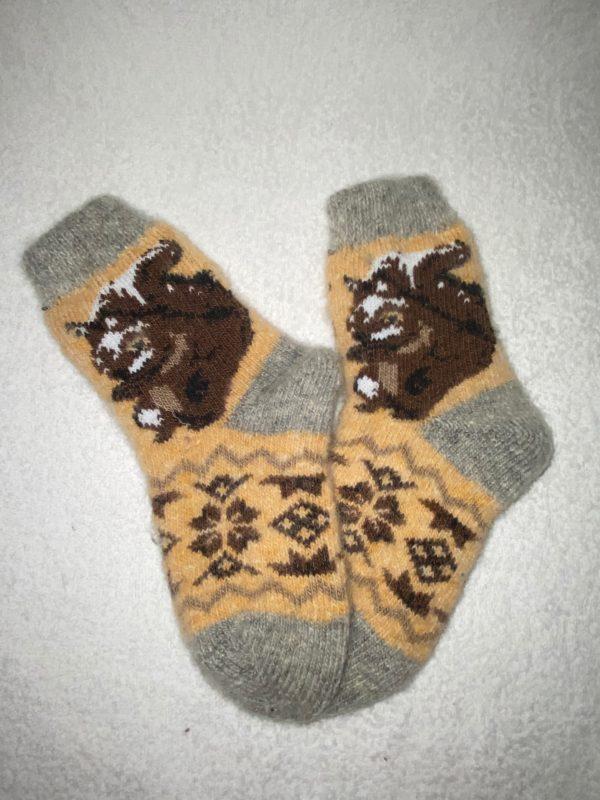 Подростковые шерстяные носки. Модель P-9