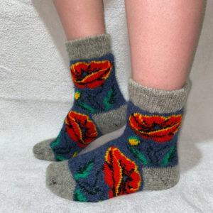 Женские шерстяные носки. Модель J-38
