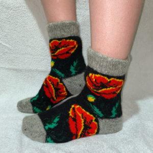 Женские шерстяные носки. Модель J-39