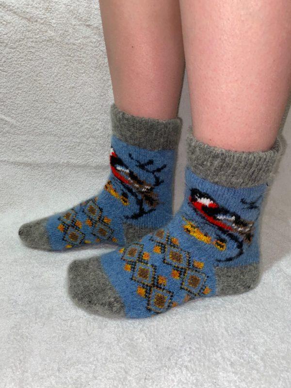 Женские шерстяные носки. Модель J-41