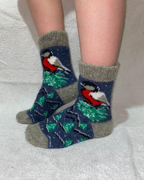 Женские шерстяные носки. Модель J-44