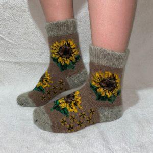 Женские шерстяные носки. Модель J-45