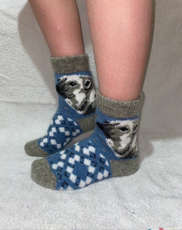 Женские шерстяные носки. Модель J-46