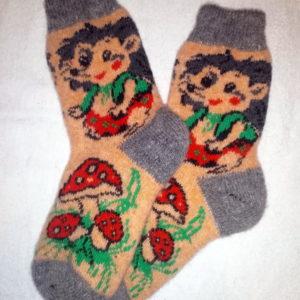 Женские шерстяные носки. Модель J-57