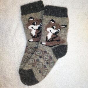 Женские шерстяные носки. Модель J-69