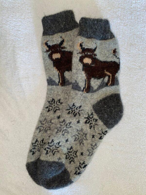 Женские шерстяные носки. Модель J-77
