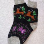 Женские шерстяные носки. Модель J-102