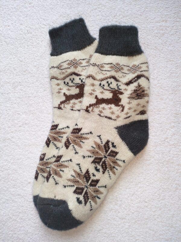 Женские шерстяные носки. Модель J-104