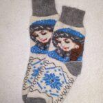Женские шерстяные носки. Модель J-94