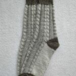 Женские шерстяные носки. Модель J-112 серии Аврора